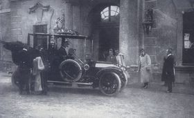Francisco José I en la ciudad de Velke Mezirici