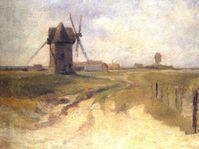 Zdeňka Braunerová, 'Krajina s větrným mlýnem'