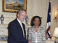 Foreign Minister Cyril Svoboda and US Secretary of State Condoleezza Rice, photo: CTK