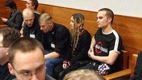 Экстремисты во время судебного разбирательства (2009 г.), Люция Шлегрова в центре (Фото: ЧТ24)
