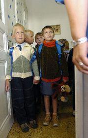 Первоклашки в школе в Праге 2 (Фото: ЧТК)