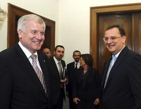Horst Seehofer und Petr Nečas (Foto: ČTK)