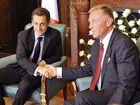 Nicolas Sarkozy mit Premier Mirek Topolánek (Foto: ČTK)
