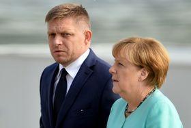 Robert Fico et Angela Merkel, photo: ČTK