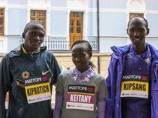 Stephen Kiprotich, Mary Keitany et Wilson Kipsang, photo: RunCzech