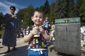 Nový pramen snázvem Nový jubilejní byl slavnostně zpřístupněn 8. září vLuhačovicích na Zlínsku, foto: ČTK