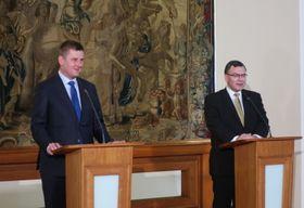 Tomáš Petříček und Florian Herrmann (Foto: Martina Schneibergová)