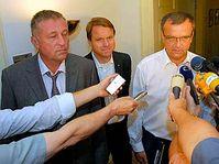 Mirek Topolánek, Martin Bursík a Miroslav Kalousek, foto: ČTK