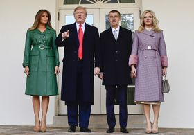 Melanie Trump, Donald Trump, Andrej Babiš, Monika Babišová, photo: ČTK/Roman Vondrouš