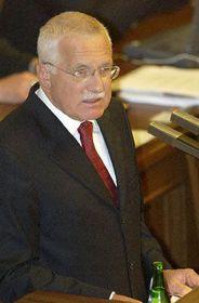 Presidente de la República, Václav Klaus, ante la Cámara Baja, foto: CTK
