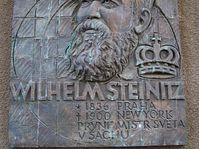 Memorial plaque to William Steinitz in Prague's Old Town, photo: Pavla Horakova