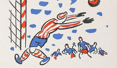 'The Chattertooth Eleven', illustration by Josef Čapek, photo: repro Eduard Bass, 'Klapzubova jedenáctka' / SNDK