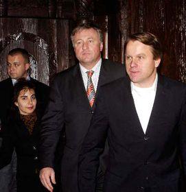 Mirek Topolanek with the Greens' Martin Bursik, photo: CTK