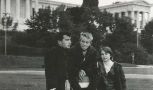František Schneiberg (links) in München mit seinen deutschen Freunden (Foto: Familienarchiv František Schneiberg)