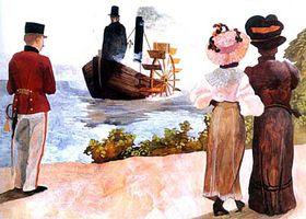 Exhibición del barco a vapor