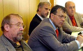 De izquierda: Vladimír Lastuvka, Jaroslav Foldyna, Ivan David y Jan Kavan (Foto: CTK)