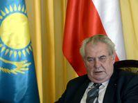 Miloš Zeman en Kazajistán, foto: ČTK