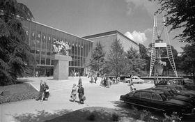 Československý pavilón na světové výstavě vBruselu vroce 1958, foto: ČTK