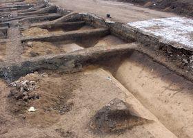 Zbytky římského opevnění na území Brna, foto: ČTK