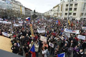 Kundgebung auf dem Wenzelsplatz (Foto: ČTK)