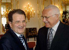 Romani Prodi (vlevo) aVáclav Klaus, foto: ČTK
