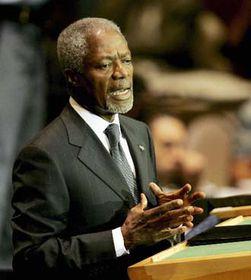 Generální tajemník OSN Kofi Annan, foto: ČTK