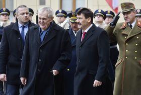 Miloš Zeman a reçu János Áder, photo: ČTK