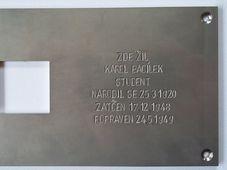 Gedenktafel (Foto: Archiv des Projektes)