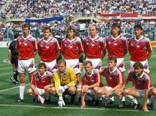 Czech team at the 1990 World Cup, photo: CTK