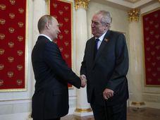 Vladimir Putin, Miloš Zeman, foto: ČTK