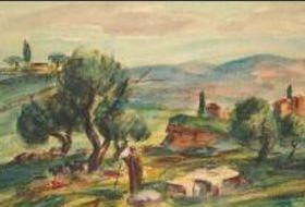 Feigl bildete die Landschaft Palästinas sehr expressiv (Foto: Archiv der Galerie der bildenden Künste in Cheb)