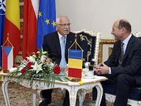 President Vaclav Klaus and his Romanian counterpart Traian Basescu, photo: CTK
