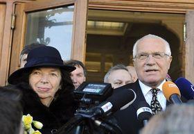 Livia Klausová y Václav Klaus, foto: ČTK