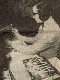 Rudolf Stöger am Empfänger im Jahr 1968 (Foto: Archiv von Rudolf Stöger)