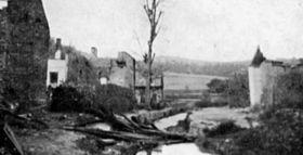 Vypálená obec Javoříčko, foto: archiv Iniciativy pro podporu vypálených obcí