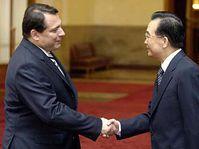Prime Minister Jiri Paroubek and his counterpart Wen Jiabao, photo: CTK