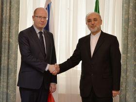 Премьер-министр Чехии Богуслав Соботка и вице-президент Ирана Али Акбар Салехи, Фото: ЧТК