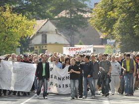 Protestas contra los gitanos, foto: ČTK