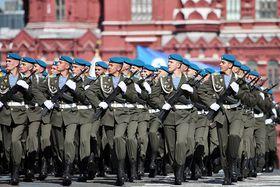 Солдаты-десантники на параде Победы в Москве, фото: CC BY-SA 4.0 открытый источник