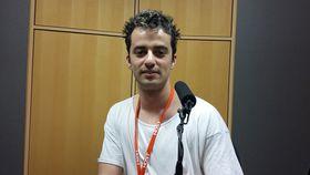 Александр Иськин в студии Радио Прага, Фото: Ольга Васинкевич, Чешское радио - Радио Прага