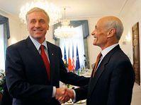 Prime Minster Mirek Topolánek with US Secretary of Homeland Security Michael Chertoff, photo: CTK