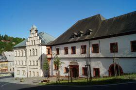 Ehemalige Münzprägeanstalt in Jáchymov (rechts). Foto: Archiv des Tschechischen Rundfunks - Radio Prague International