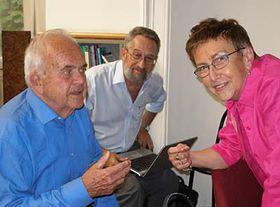 From left: Antonin Liehm, Eugeniusz Smolar and Jirina Siklova, photo: Linda Mastalir