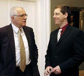 President Vaclav Klaus and Prime Minister Stanislav Gross, photo: CTK