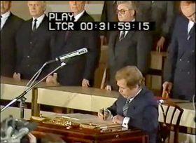 El nueve presidente checoslovaco, Václav Havel, foto: ČT