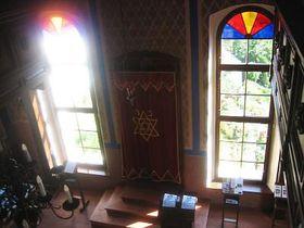 Interior of the restored Ustek synagogue