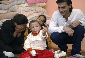 Natálka with her parents, photo: CTK
