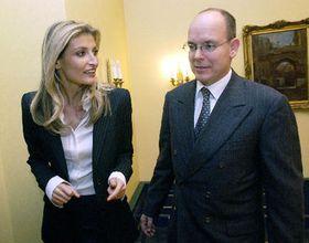Tereza Maxová y príncipe Alberto de Mónaco (Foto: CTK)