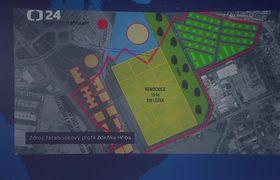 Plan zum Bau eines neuen Regierungskomplexes in Prag (Foto: ČT24)