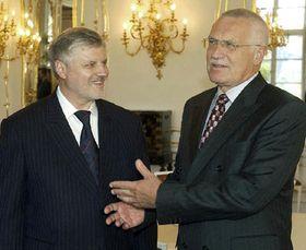 Сергей Миронов и Вацлав Клаус, фото: ЧТК
